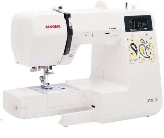 janome jw8100 fully-featured computerized sewing